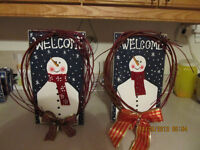 """"""" WELCOME """"  Snowman sign"""