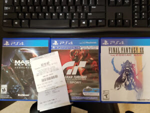 Brand New PS4 Games: GT Sport, Mass Effect Andromeda, FF XII