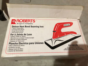 Roberts Deluxe Heat Bond Seaming Iron For Sale !!!