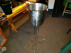 "Wine Bucket & Stand 9"" wide x 32"" high"