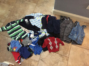 Lot of baby boy clothes. Nike, puma, gap, old navy 0-12 mos