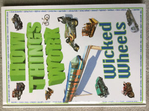 BRAND NEW - HOW THINGS WORK WICKED WHEELS HARDCOVER BOOK
