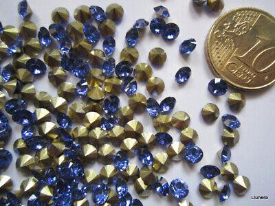 Cristal facetado diamante 4 mm azul azulón X 60 UNIDADES acrílico para...
