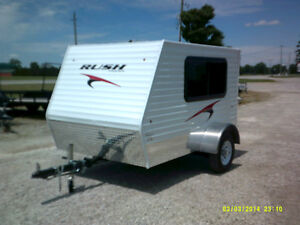 5.5 BY 8.5 RUSH MINI CAMPERS: WINTER SPECIAL! ONLY 1 LEFT!!