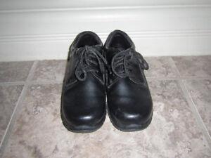Boys size 13 black lace-up shoes