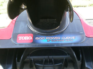 Toro 15-Inch Electric 1500 Power 12-Amp Curve Snow Blower Peterborough Peterborough Area image 3