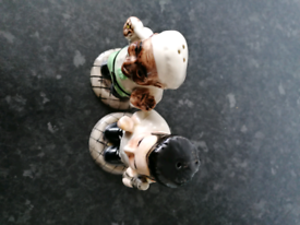 Salt and pepper pots, HP. Very collectable