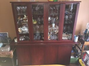 Dining Room Hutch (Teak wood) - Two-pieces