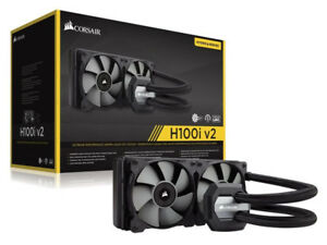 CORSAIR H100i v2 AIO water CPU Cooler 240mm Radiator Dual Fan