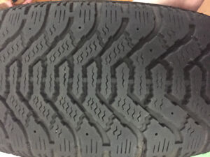 4 Goodyear 55R16 winter tires. Used for two seasons.