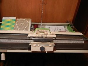 Brother KH820 Knitting Machine & Brother KR830 Ribber - Combo