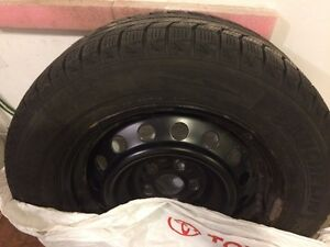 Four Michelin Winter Tires 195/65R15 on Toyota rims