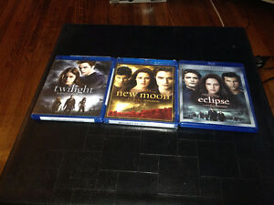 Twilight, New Moon, Eclipse Blu-Rays