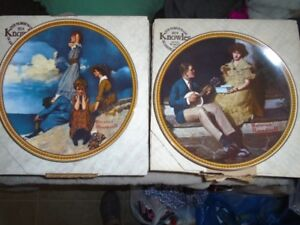 4 Norman Rockwell Plates