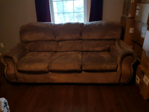 3 piece microfiber living room set.