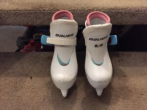 Little Girls size 8 Bauer skates