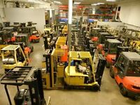 SMforklift retour de locations Toyota Hyster Yale lease return