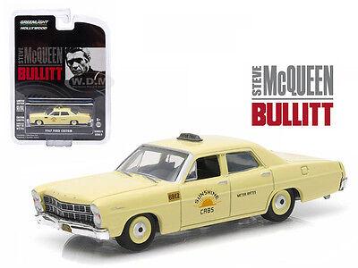 "1967 Ford Custom ""Sunshine Cabs"" Taxi Mcqueen Bullitt 164 Greenlight 44690 C 0"