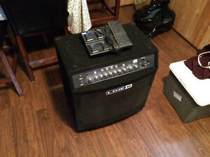 Line 6 Bass Amp with Peddle Board