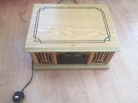 Vinyl record player cd radio system electric plug in