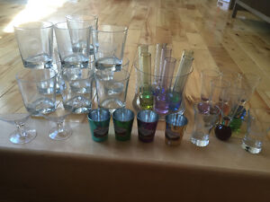 BAR GLASSES, SHOOTERS AND OTHERS.