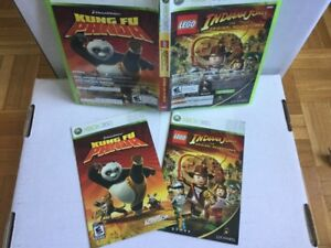 Jeux X360: Kung Fu Panda + Indiana Jones - 10$