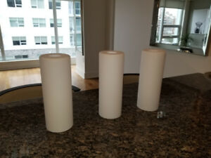 3 white replacement pendant shades