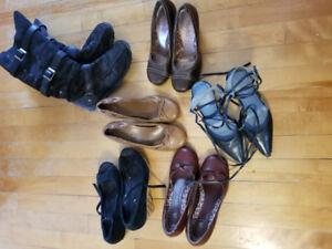 Ladies Sm heals & boots 4 SALE! Jessica, Also, Nine West, Mudd.