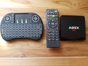 A95X Android Tv Box with wireless remote