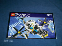 LEGO TECHNIC NO. 8222-ASSEMBLY SPEC SHEET-CHOPPER-TOYS