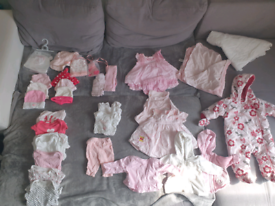 Newborn girl bundle of clothes