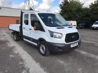 Ford Transit T350 Double Cab Tipper Euro 6 DIESEL MANUAL WHITE (2017)