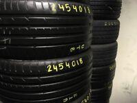 Tyre Shop 245/45/18 245/40/18 235/40/18 235/45/17 225/40/18 225/45/18 TYRES TIRES PARTWORN PART WORN