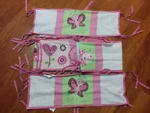 Baby girl breathable bumper pads Windsor Region Ontario image 1