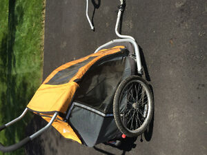 Double Bike trailer and jogger