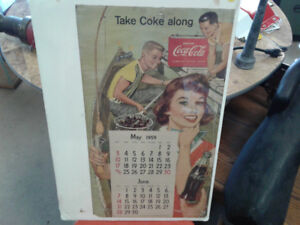 Coca Cola Calender 1959