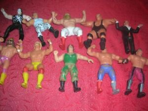 10 Rubber Wrestling Figures-Titan Sports LJN -1980s - 8""