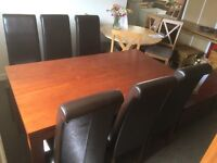 Zone dining table and 6 chairs