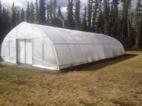 Commercial greenhouse space for rent on Takhini Hotsprings road