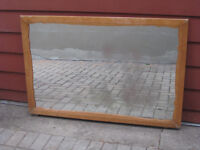 FREE Large Wood Framed Mirror originally off a dresser.