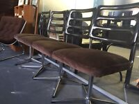 Set of 4 1970s swivel chairs