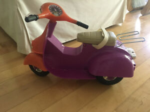 America Doll Moped with helmet