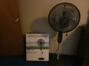 16 inch BIONAIRE STAND FAN FOR SALE IN EXCELLENT CONDITION