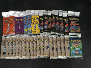 Vintage Pokémon booster packs sealed 2000