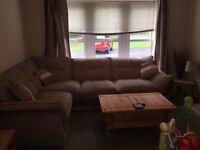 Large amazing corner sofa and cuddle chair