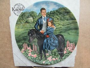 1985 GONE WITH THE WIND 8TH ISSUE BONNIE & RHETT 8.5""