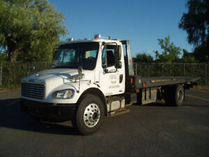 2008 freightliner m2-106 flatbed towtruck nrc