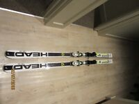 Super G skis - HEAD 185cm SG skis with race bindings