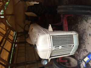 1947 Ford Tractor with tow snow blower and blade