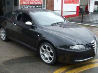 ALFA ROMEO GT 1750cc BLACKLINE IN NERO BLACK 6 MONTHS WARRANTY STUNNING